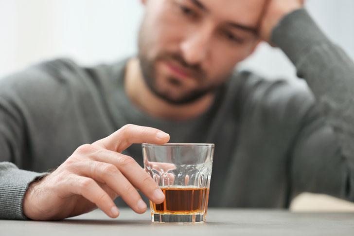 сильная зависимость от алкоголя